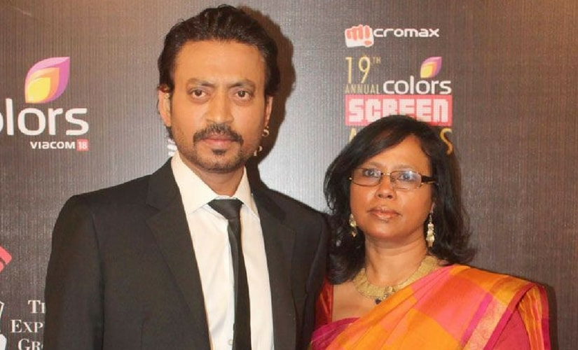 Irrfan Khan with wife Sutapa Sikdar/Image from Twitter.