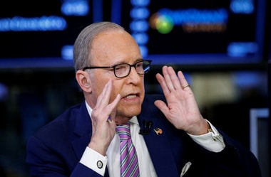 Trump and Kudlow are said to get on well at a personal level/ REUTERS