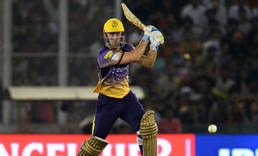 File photo of Kolkata Knight Riders' Chris Lynn from the 2017 edition of the IPL. AFP