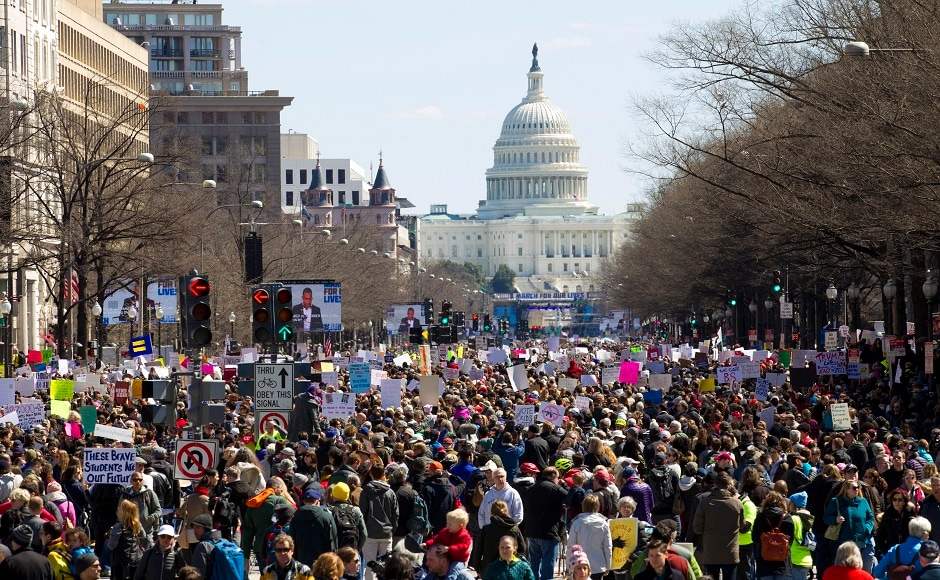 The main stage for the event in Washington was set up near the US Capitol and lawmakers were the target audience as speakers delivered warnings that the time has come for stricter gun laws. Large crowds also turned out for demonstrations in Atlanta, Boston, Chicago and other cities. AP