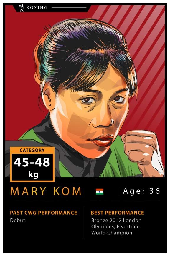 MC Mary Kom. Art by Rajan Gaikwad.