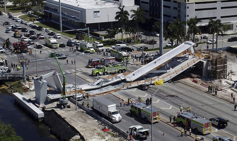 'Multiple' fatalities in Miami pedestrian bridge collapse