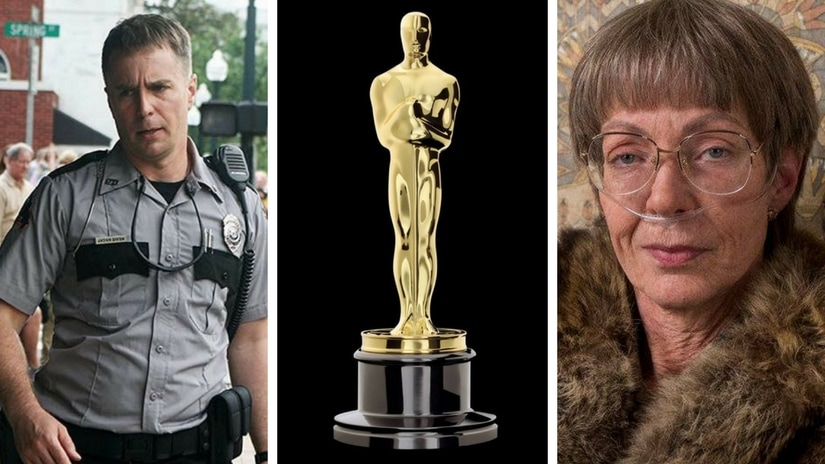 Sam Rockwell in Three Billboards (left); Allison Janney in I, Tonya (right). Facebook