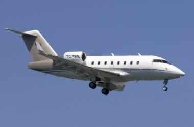 File image of a Bombardier CL604 aircraft, with tail number TC-TRB. AP