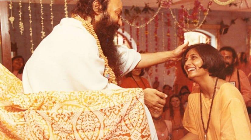 Bhagwan Shree Rajneesh with Ma Anand Sheela
