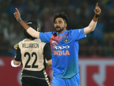 File photo of Mohammed Siraj. AFP