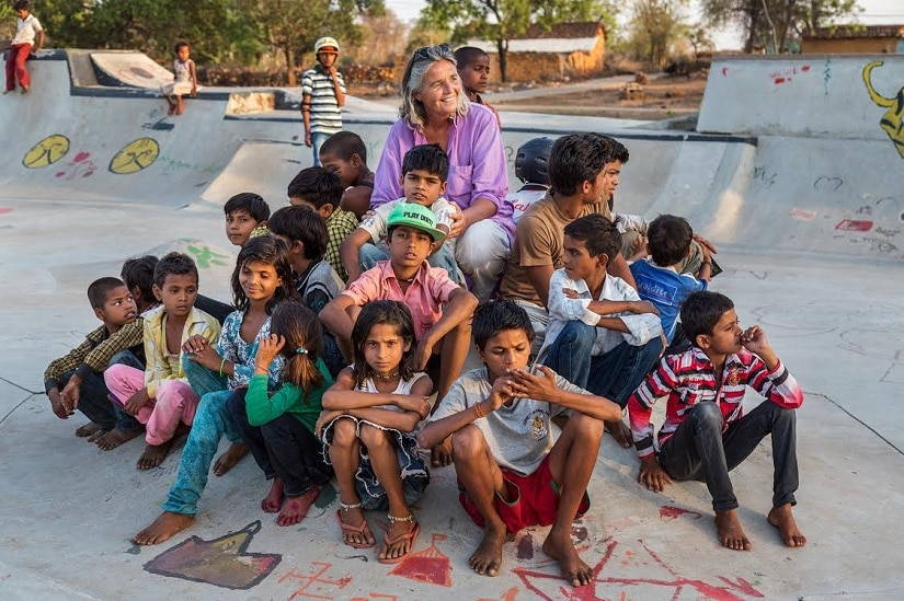 Ulrike and the Rural Changemakers at the skatepark, 2016, Credit: Vicky Roy