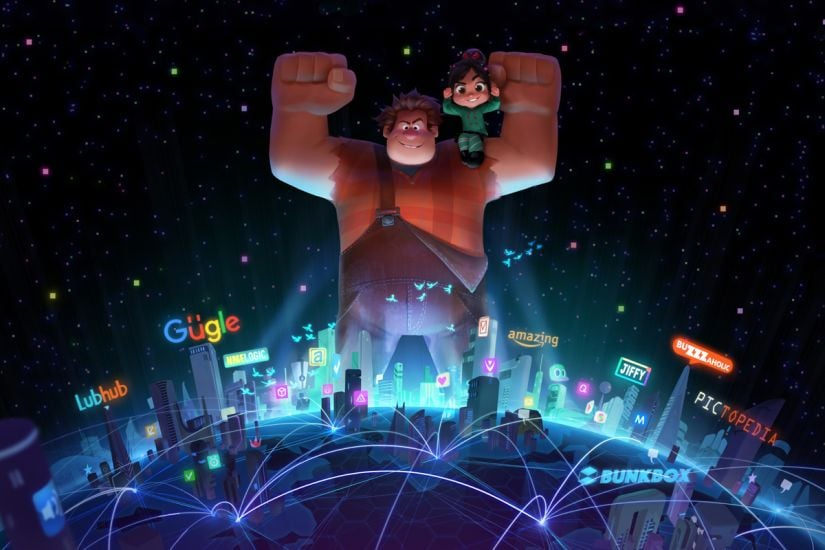 A promo for Ralph Breaks the Internet: Wreck-It Ralph 2. Image via Twitter