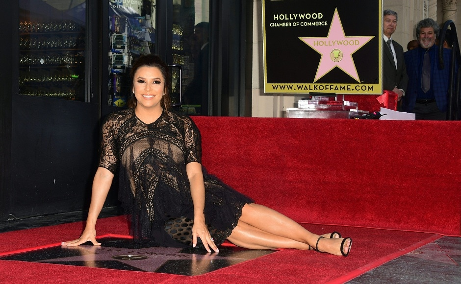 Desperate Housewives star Eva Longoria received a star on the Hollywood Walk of Fame. Image from AFP/Frederic J Brown