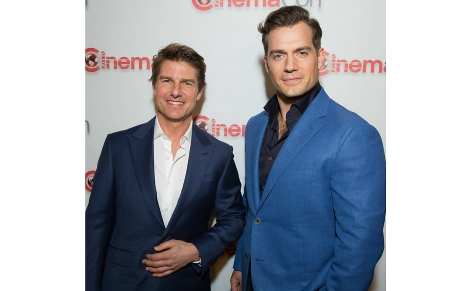 Tom Cruise and Henry Cavill promoting Mission: Impossible – Fallout at CinemaCon 2018/Image from Instagram @paramountpics.