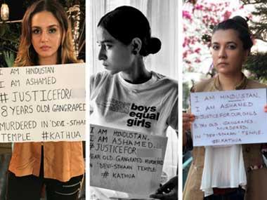 Kathua rape case: Kalki Koechlin, Swara Bhaskar, Richa Chadha campaign for #JusticeFor*****