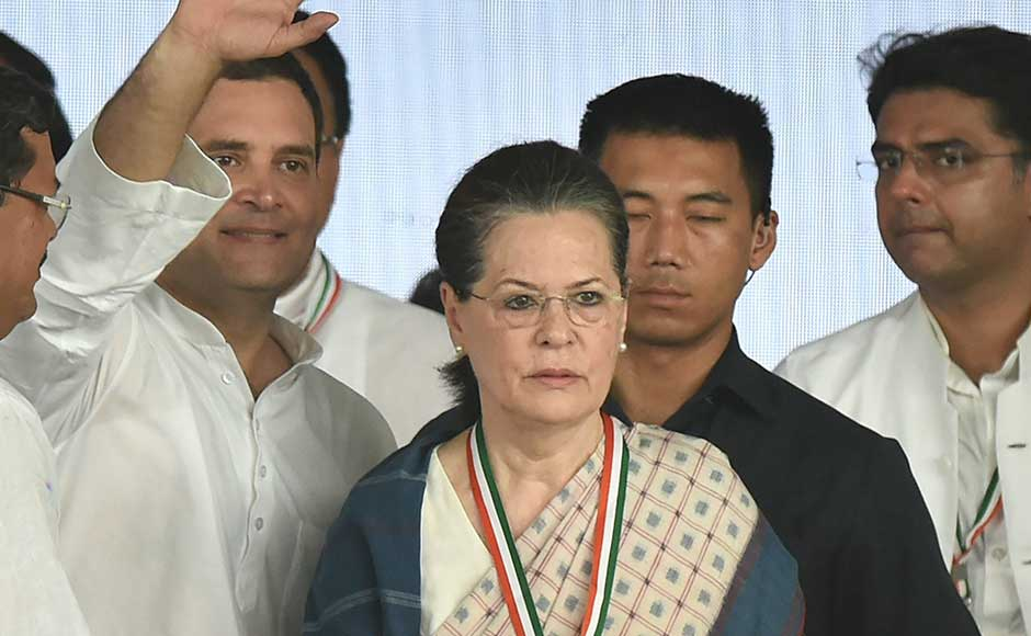Party leaders including UPA chairperson Sonia Gandhi and former prime minister Manmohan Singh were among those present at the rally. PTI