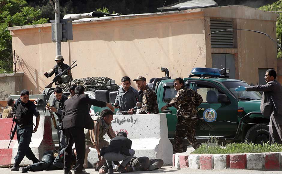 The interior ministry confirmed the death toll and said six journalists were among those killed. It also said 49 people had been wounded, amid fears the death toll could rise. AP