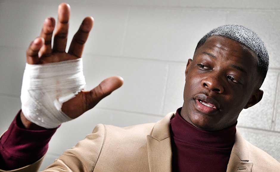 James Shaw, 29, told a press conference that he and his friend had sat down in the diner after visiting a nightclub, when they thought a pile of plates had crashed.
