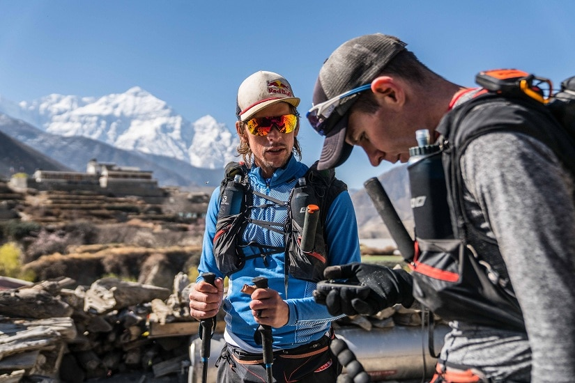 Ryan and Ryno do final route checks before heading out on the 10th day of their GHT attempt