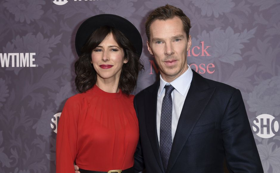 Sophie Hunter (L) and Benedict Cumberbatch at the premiere in Los Angeles. Photo by Richard Shotwell/Invision/AP