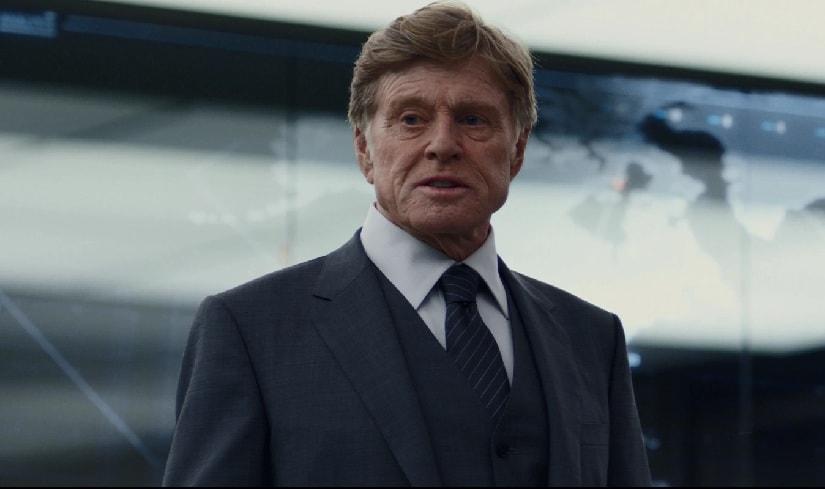 Robert Redford as Alexander Pierce in Captain America: Winter Soldier. Marvel Studios