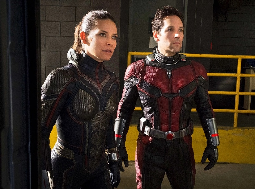Evangeline Lilly and Paul Rudd in a still from Ant-Man and the Wasp. Marvel Studios