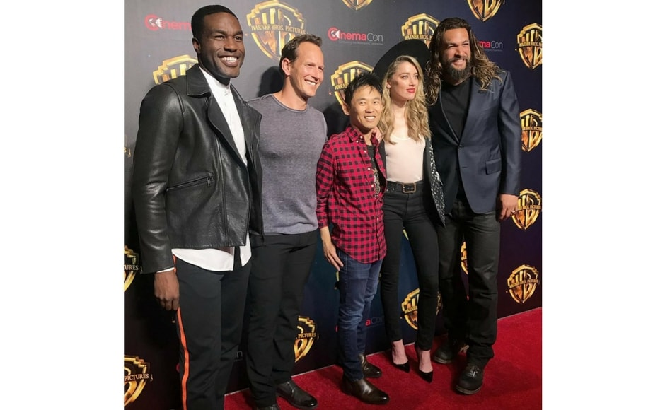 The cast of Aquaman at CinemaCon 2018/Image from Instagram @wbpictures.