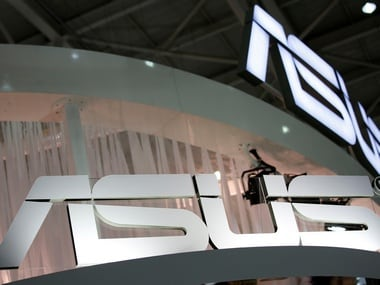 Logos of Taiwanese multinational computer hardware and electronics company Asus are seen during the annual Computex computer exhibition in Taipei, Taiwan June 1, 2016. REUTERS/Tyrone Siu - D1BETHJPZWAA