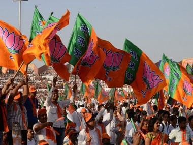 BJP flags. Representational image. AFP