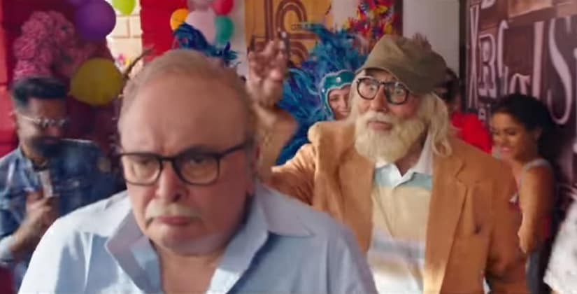 Amitabh Bachchan and Rishi Kapoor in 102 Not Out. YouTube screengrab