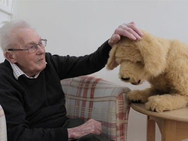 Robotic dog Biscuit lends helping paw to dementia patients in British care home, helps spark memories