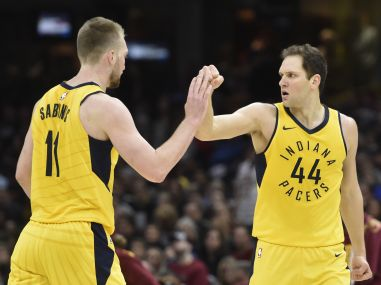 NBA Playoffs: Bojan Bogdanovic helps Pacers take 2-1 lead over Cavaliers; Bucks overwhelm Celtics