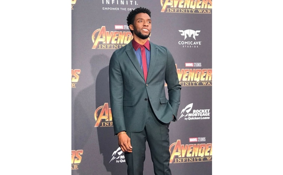 Chadwick Boseman attends Avengers: Infinity War world premiere in Los Angeles/Image from Twitter @marvel.