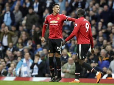 Chris Smalling scored the winner for Manchester United in the derby against City last year. AP