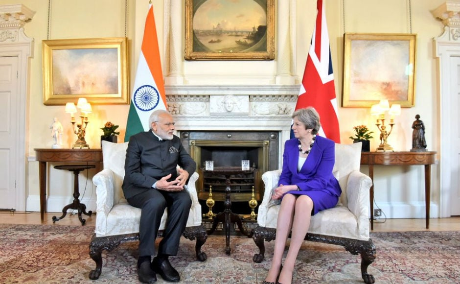 Narendra Modi in UK: Prime Minister meets Theresa May and Prince Charles, will address Indian community soon