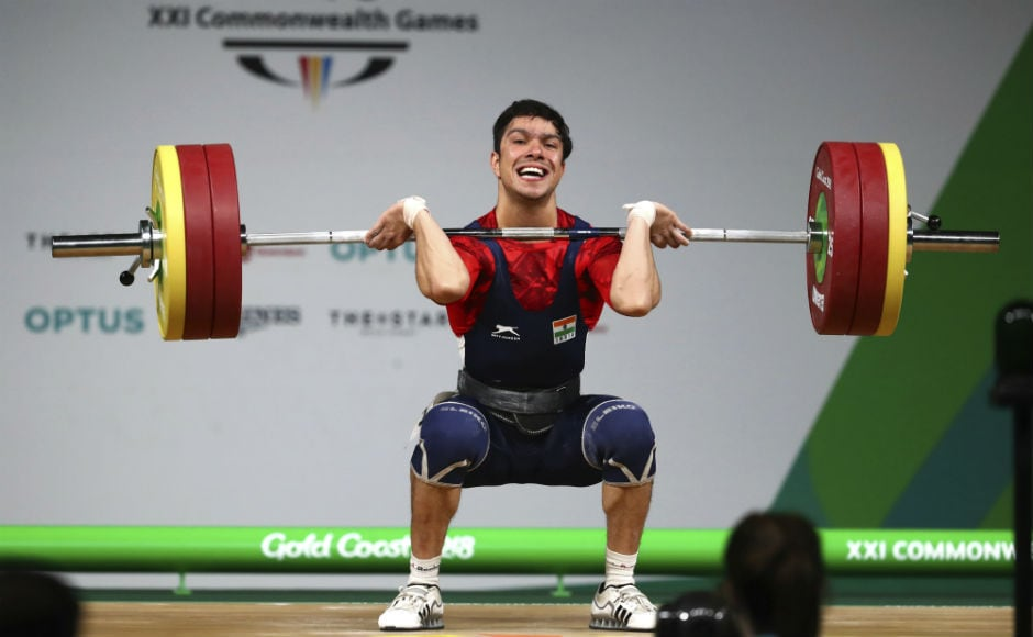 Deepak Lather in action in the men's 69kg category. AP