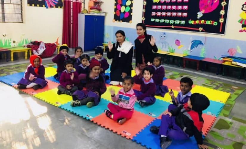 A kindergarten classroom in one of the Delhi government schools. Firstpost/Avhaan