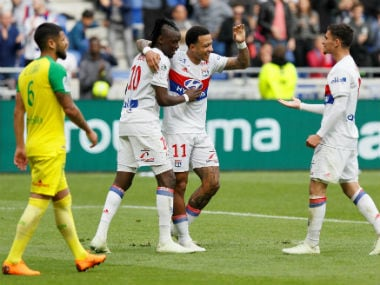Ligue 1: Memphis Depay guides Lyon to second spot with easy win over Nantes; AS Monaco held by Amiens