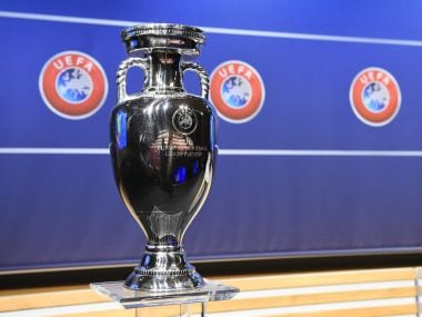 Image of the UEFA Euro trophy used for representational purpose. AFP