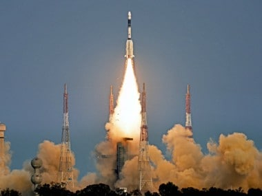 The launch of the . Image courtesy: ISRO