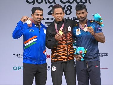 Commonwealth Games 2018: Weightlifter Gururaja Poojary lifts 249 kgs to clinch silver in mens 56kg event