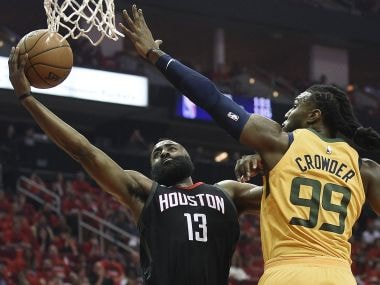 NBA Conference Semi-finals: James Harden scores 41 as Houston Rockets blast past Utah Jazz in series opener
