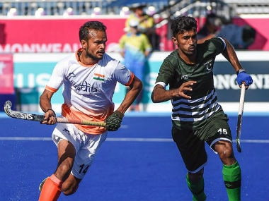 Indian hockey team in action against Pakistan. Twitter @TheHockeyIndia
