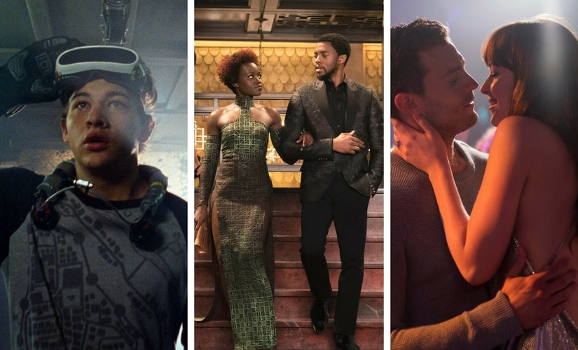 Top three highest grossing movies worldwide of 2018, Ready Player One (second), Black Panther (first), Fifty Shades Freed (third)/Images from Twitter.