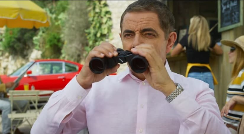 Rowan Atkinson in a still from Johnny English Strikes Again. YouTube screengrab
