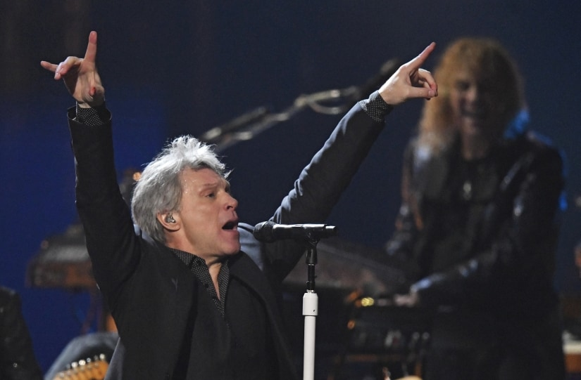 Bon Jovi inducted into Rock & Roll Hall of Fame; band celebrates with powerful performance