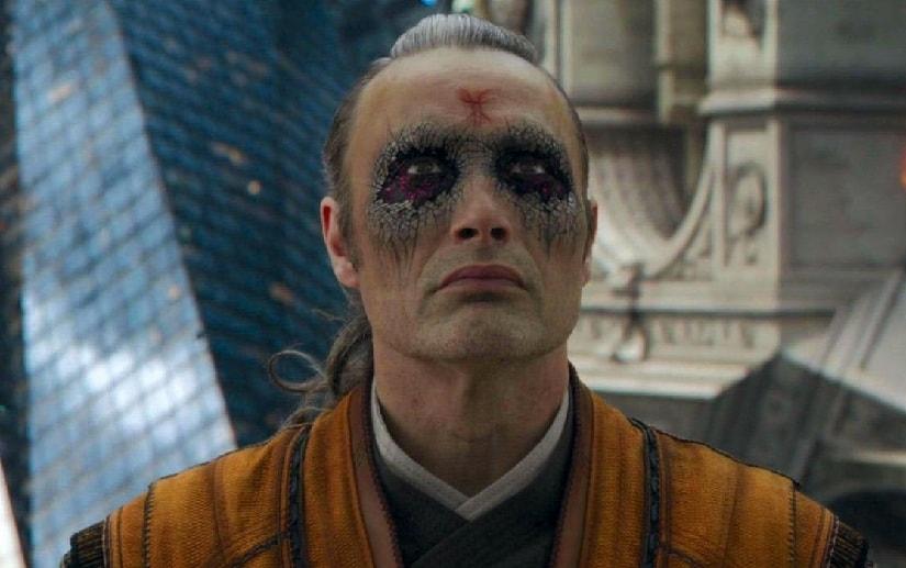 Mads Mikkelsen as Kaecilius in Doctor Strange. Marvel Studios