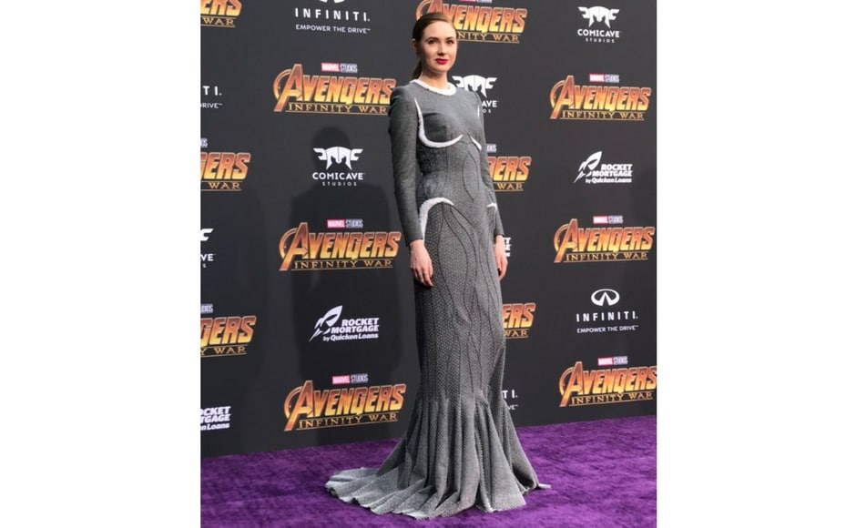 Karen Gillian attends Avengers: Infinity War world premiere in Los Angeles/Image from Twitter @marvel.