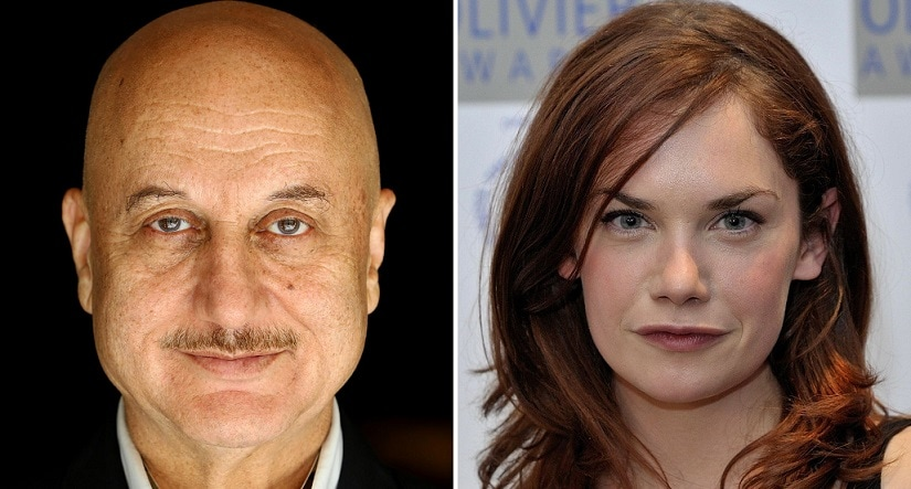 Anupam Kher and Ruth Wilson. Image via Twitter