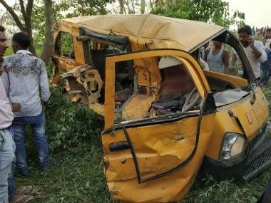 Kushinagar accident updates: Dozens of protesters throng mishap site; Yogi Adityanath blames van driver