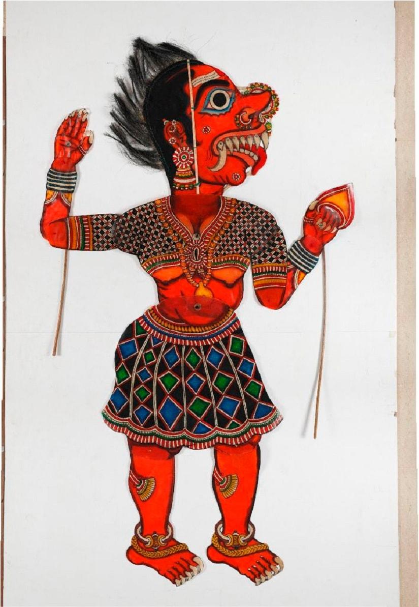 Leather puppet of Lankini by Chidambaram Rao