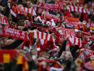 Representational image of Liverpool fans. AFP