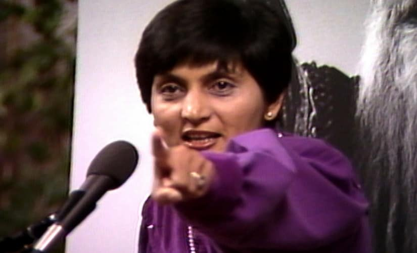 Ma Anand Sheela in a still from Wild Wild Country.