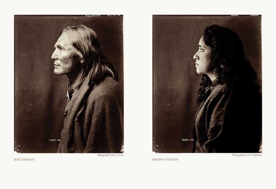 © Annu Palakunnathu Matthew, Red Indian Brown Indian, 2001, From the series An Indian from India, 2001–2007, Courtesy of the Artist and sepiaEYE Gallery, New York
